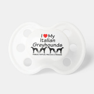 Baby Loves Four Italian Greyhound Dogs Pacifier