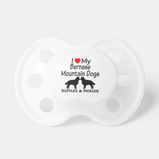 Baby Loves Two Bernese Mountain Dogs Pacifier