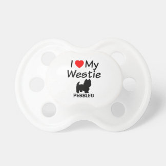 Baby Loves Westie Dog Pacifier