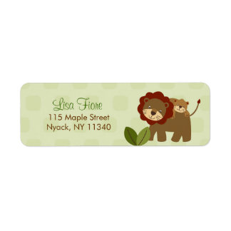 Baby Luv Jungle Animal Baby Shower Address Labels