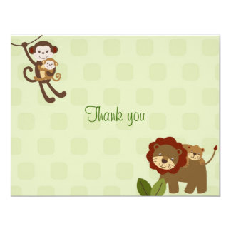 Baby Luv Jungle Animal Thank You Note Cards