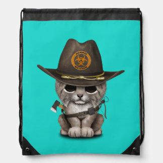 Baby Lynx Zombie Hunter Drawstring Bag