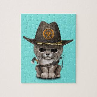 Baby Lynx Zombie Hunter Jigsaw Puzzle