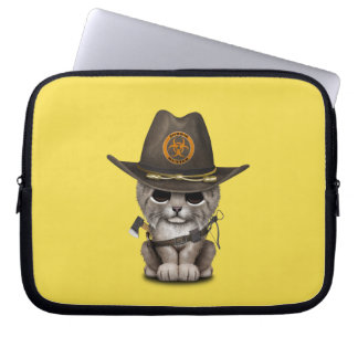 Baby Lynx Zombie Hunter Laptop Sleeve
