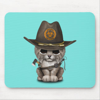 Baby Lynx Zombie Hunter Mouse Pad