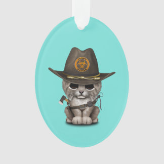 Baby Lynx Zombie Hunter Ornament