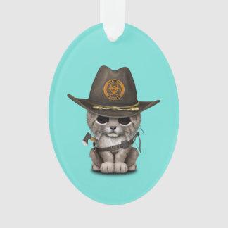 Baby Lynx Zombie Hunter Ornament