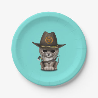 Baby Lynx Zombie Hunter Paper Plate