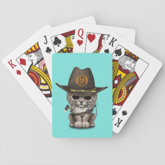 Baby Lynx Zombie Hunter Playing Cards