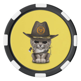 Baby Lynx Zombie Hunter Poker Chips