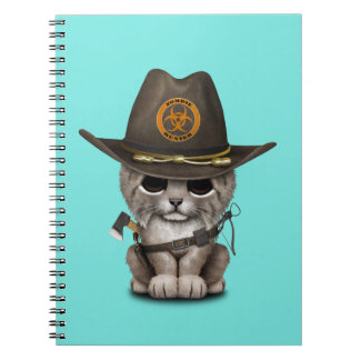 Baby Lynx Zombie Hunter Spiral Notebook