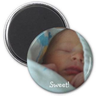 Baby magnets New Babies in Blanket Personalized