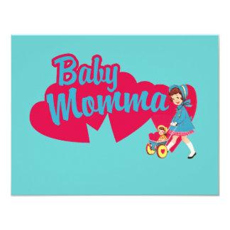 "Baby Mama 4.25"" X 5.5"" Invitation Card"
