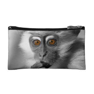 Baby Mangabey Monkey Cosmetic Bag