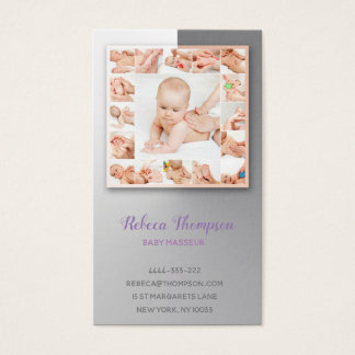 Baby Masseur Massage Specialist Physiotherapist Business Card