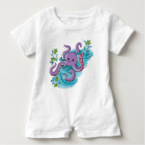 'baby max' Olive-the-Octopus Baby Romper