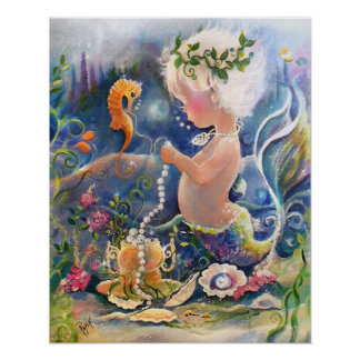 Baby Mermaid Poster