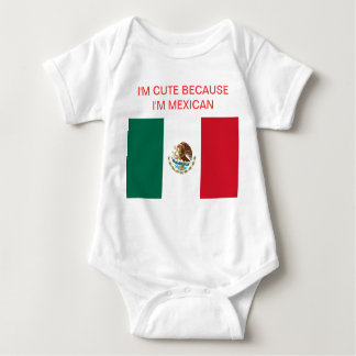 Baby Mexican Pride Baby Bodysuit