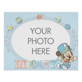 Baby Mickey Mouse Customizable Poster