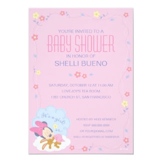 Baby Minnie Mouse Baby Shower Card