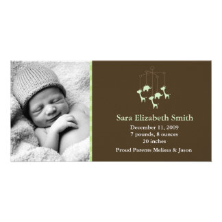 Baby Mobile Birth Announcements Customized Photo Card