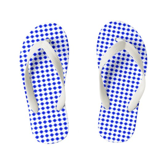 Baby-Mod-Blue-Floral-Step's(c) Multi-Sizes Kid's Flip Flops