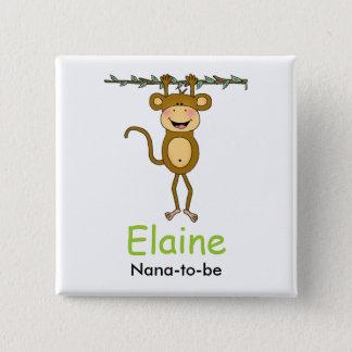 BABY MONKEY Hanging Monkey Personalized Button