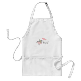 Baby Monkey (riding backwards on a pig) Standard Apron