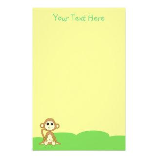 Baby Monkey Yellow Stationery
