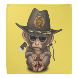 Baby Monkey Zombie Hunter Bandana