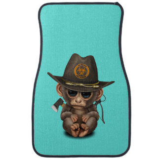 Baby Monkey Zombie Hunter Car Mat