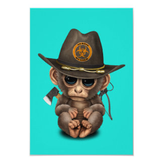 Baby Monkey Zombie Hunter Card
