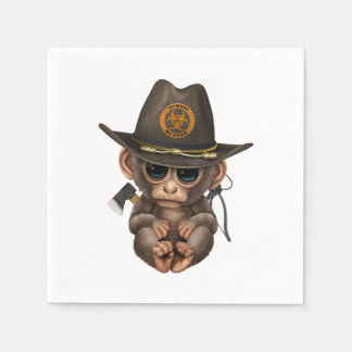 Baby Monkey Zombie Hunter Disposable Napkin