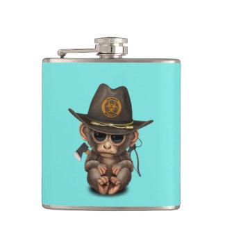 Baby Monkey Zombie Hunter Hip Flask