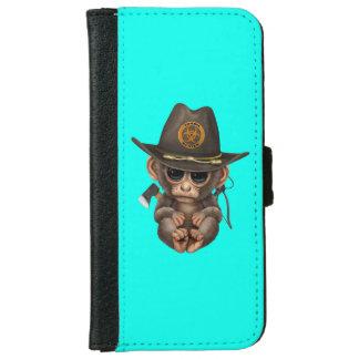 Baby Monkey Zombie Hunter iPhone 6 Wallet Case