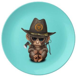 Baby Monkey Zombie Hunter Plate