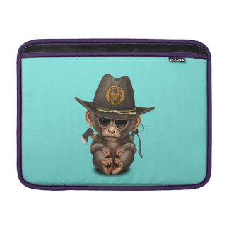 Baby Monkey Zombie Hunter Sleeve For MacBook Air