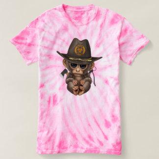 Baby Monkey Zombie Hunter T-shirt