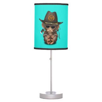 Baby Monkey Zombie Hunter Table Lamp