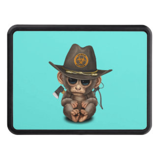 Baby Monkey Zombie Hunter Trailer Hitch Cover