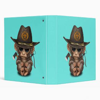 Baby Monkey Zombie Hunter Vinyl Binder