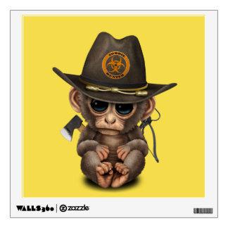 Baby Monkey Zombie Hunter Wall Decal