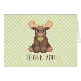 Baby Moose Baby Shower Thank You Card