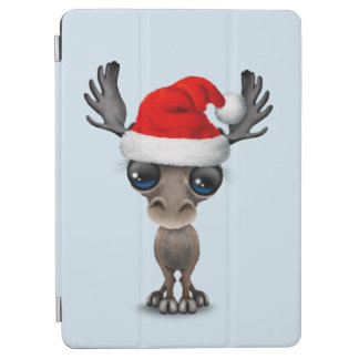 Baby Moose Wearing a Santa Hat iPad Air Cover