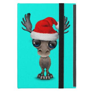Baby Moose Wearing a Santa Hat iPad Mini Cover