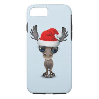 Baby Moose Wearing a Santa Hat iPhone 8/7 Case