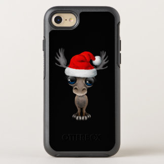 Baby Moose Wearing a Santa Hat OtterBox Symmetry iPhone 8/7 Case