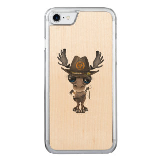 Baby Moose Zombie Hunter Carved iPhone 8/7 Case