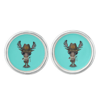 Baby Moose Zombie Hunter Cufflinks