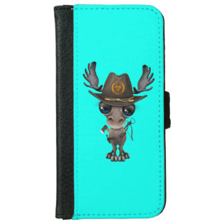 Baby Moose Zombie Hunter iPhone 6 Wallet Case
